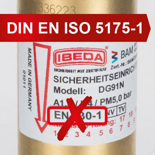 EN 730-1 REPLACED BY DIN EN ISO 5175-1